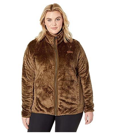 Columbia Plus Size Fire Sidetm II Sherpa Full Zip (Olive Green) Women