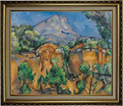 Historic Art Gallery Mountains Mont Sainte-Victoire Seen from The Bibemus Quarry 1897 by Paul Cezanne Framed Canvas Print, Size 20x24, Gold