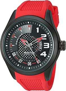 Men's Quartz Watch with Silicone Strap, red, 22.8 (Model: RK50808001)