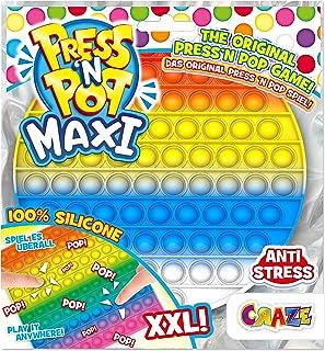 CRAZE PressNPop okrągłe prasy N POP Maxi XXL Fidget Toy sensoryczna antystresowa zabawka dla dzieci dorosłych, zestaw do b...
