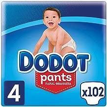Dodot Pants - Pañal-Braguita, Talla 4, Fácil de Cambiar, pack de 102