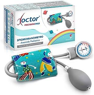 AIESI® Esfigmomanometro Manual Pediatrico Profesional Aneroide Tensiómetro clásico con brazalete de colores para ninos DOCTOR PRECISION CHILD # Garantía 24 meses