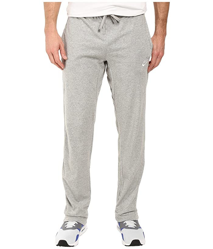 Nike Club Jersey Pant (Dark Grey Heather/White) Men