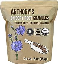 Anthony's Organic Roasted Chicory Root Granules, 1lb, Gluten Free, Non GMO, Caffeine Free, Keto Friendly