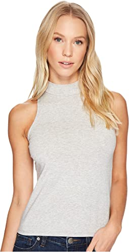 Alternative Cotton Modal Spandex Jersey Mock-Turtle Tank Top