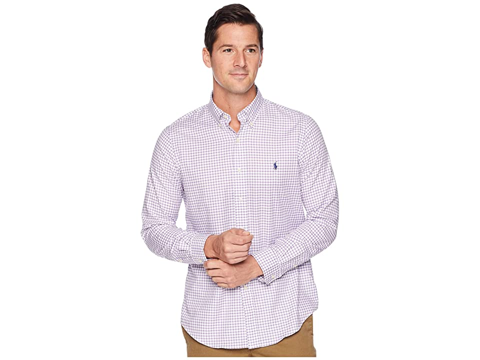 Polo Ralph Lauren Classic Fit Lightweight Twill (Orchid/White) Men