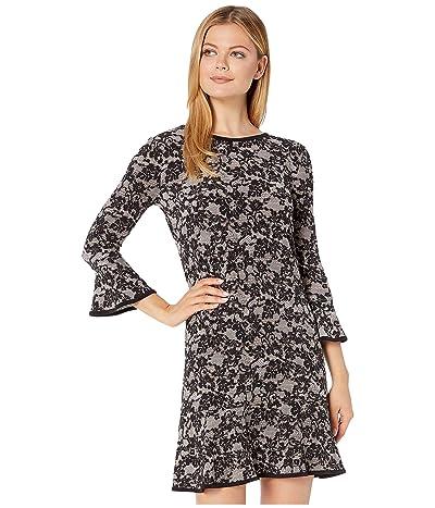 MICHAEL Michael Kors Glam Lace Flounce Dress (Bone/Black) Women
