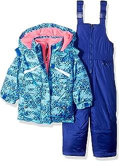 Pink Platinum Girls' Printed Heavy Snowsuit