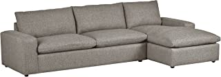 Stone & Beam Chaise Hoffman Down-Filled Chaise Sectional Sofa Couch, 87.5