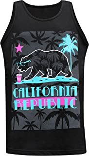 California Republic Summer Chillen Men's Muscle Tee Tank Top