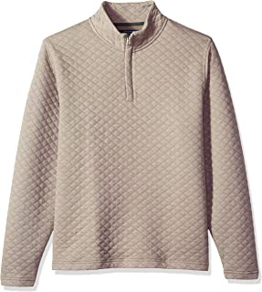 Men's Quilted 1/4 Zip Knit Sweater