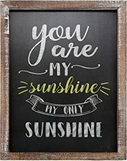 """Barnyard Designs You are My Sunshine Wall Art Wood Chalkboard Sign Rustic Vintage Primitive Country Home Decor 15.75"""" x 11.75"""""""