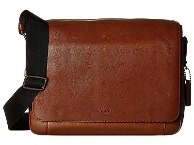 COACH Sport Calf Metropolitan Courier (QB/Dark Saddle) Messenger Bags