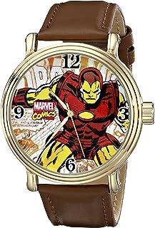 Marvel Men's W001765 The Avengers Iron Man Analog-Quartz Brown Watch