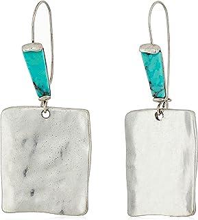 Robert Lee Morris Women's Turquiose and Silver Square Drop Earrings