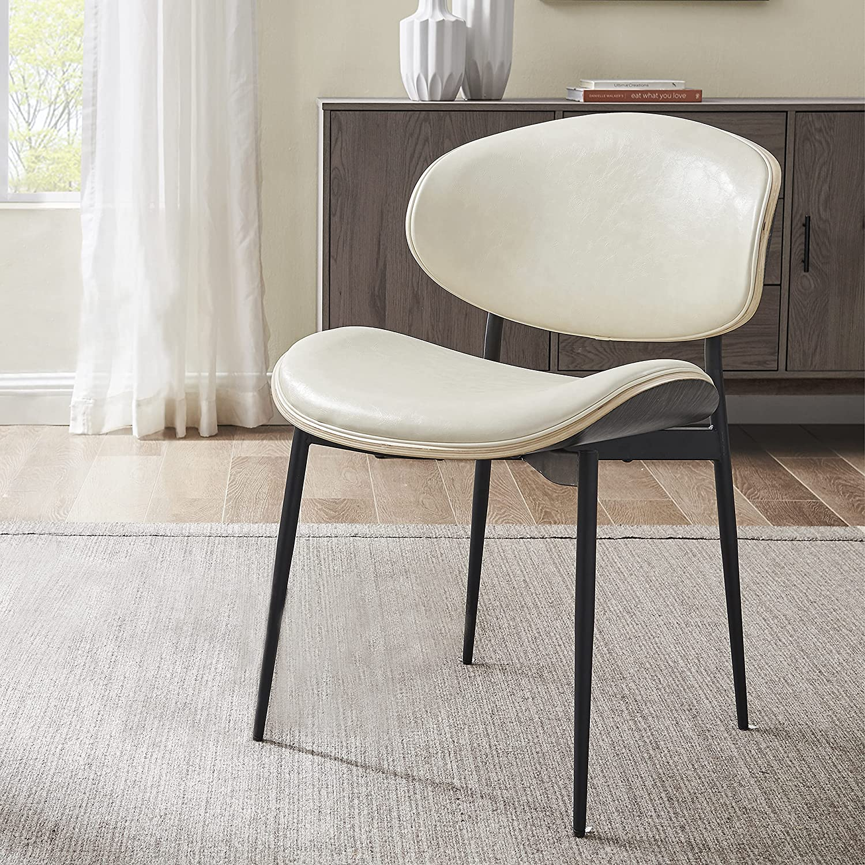Art Leon Modern Faux Leather Dining 商品 Century 流行のアイテム Chai Desk Chair Mid