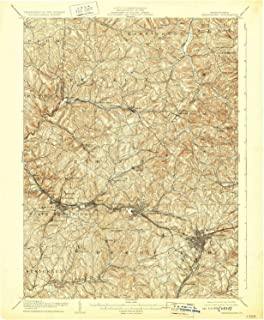 YellowMaps Greensburg PA topo map, 1:62500 Scale, 15 X 15 Minute, Historical, 1906, Updated 1929, 20 x 16.5 in