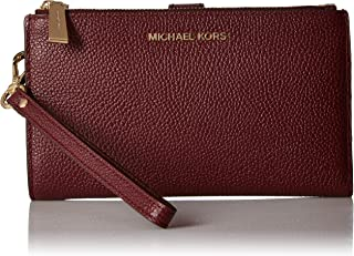 MICHAEL Michael Kors Women's Mercer Pebble Phone Wristlet Red