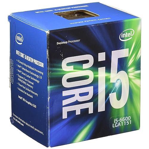 Intel Pentium Core i5-6600 - Microprocesador (3.30 GHz 6M Box Skylake) Color Plata