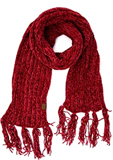 C.C Exclusives Chenille Soft Super Chunky Thick Long Big Large Cowl Fringe Scarf (SF-1815)
