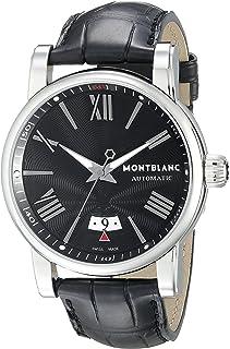 Montblanc - 102341 - Reloj para Hombres, Correa de Cuero Color Negro