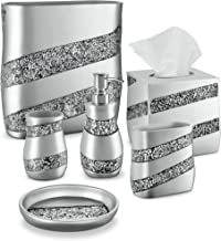 DWELLZA Juego de accesorios de baño de 6 piezas, incluye dispensador de jabón de encimera, soporte para cepillos de diente...