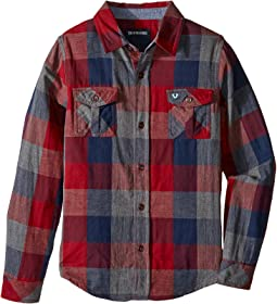 Woven Plaid Workwear Shirt (Toddler/Little Kids)