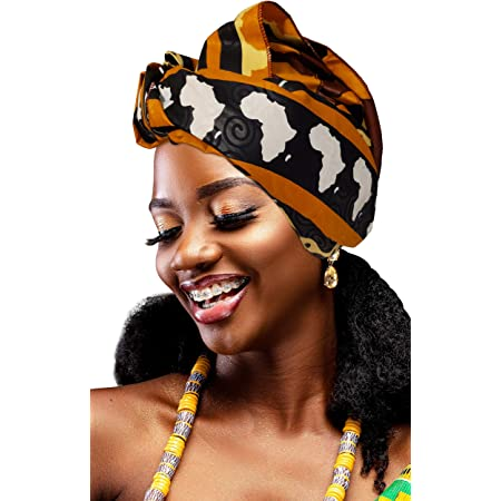 African print head wrap turban head tie scarf, Ankara head wrap