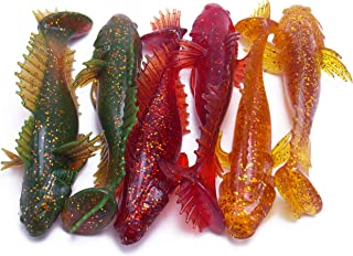 CATCHSIF 6PCS Goby Paddle Tail Soft Swimbait 4.6inch Fishing Lures