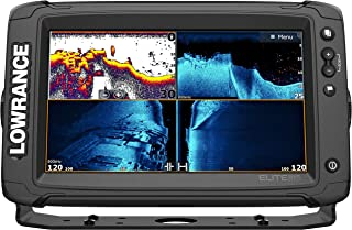 Elite-9 Ti2-9-inch Fish Finder Active Imaging 3-in-1Transducer, Wireless Networking, Real-Time Map Creation US/CAN Navionics+ Mapping Card …