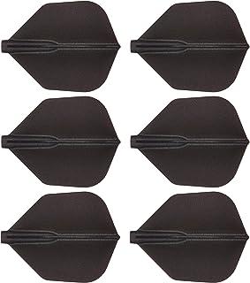 COSMO DARTS フライト Fit Flight シェープ Dブラック 6枚入り
