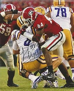 Leonard Floyd Georgia Bulldogs Autographed 8x10 Picture vs LSU w COA