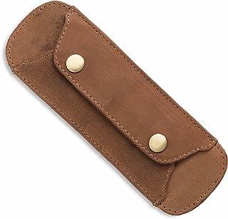 LEABAGS Premium Schulterpolster aus echt Leder mit Antirutsch-Auflage - Braun
