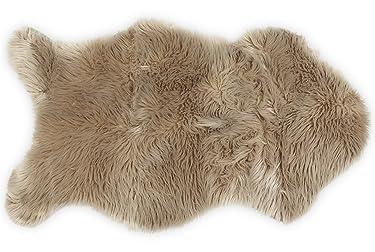 Nouvelle Legende Faux Fur Sheepskin Premium Rug Single (23 in. X 40 in.) Tan
