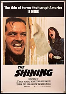 DROB The Shining Stanley Kubrick Jack Nicholson Movie Vintage Poster Art Reprint 17 x 26 Archival Ink in Glossy Paper VMP02