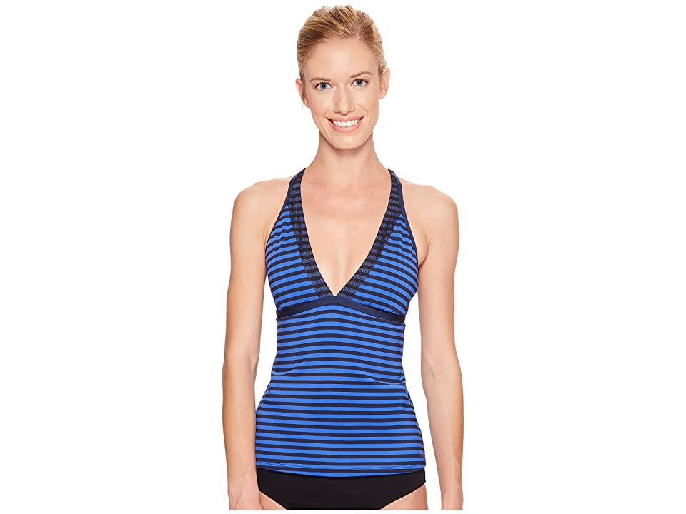 Nike Laser V-Neck Tankini Top (Medium Blue) Women