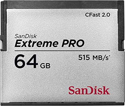 Sandisk 64 Gb Extreme Pro Cfast 2 0 Memory Card Computers Accessories