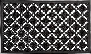 Relaxdays 10020193 Paillasson en caoutchouc antidérapant tapis de sol porte entrée avec motif grille résistant aux intempé...