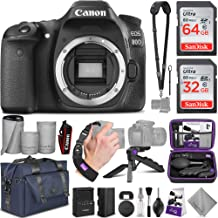 Canon EOS 80D DSLR Camera Body with Altura Photo Complete Accessory and Travel Bundle