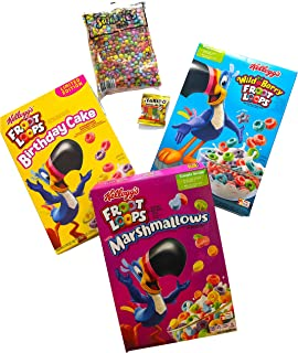 SuperPack de colores | Cereales Americanos | Froot loops marshmallows, wild berry, birthday cake, smarties