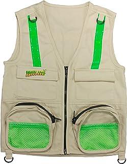 Chaleco Explorador Eagle Eye para Niños, con Bolsillos y Reflectante de Seguridad. Safari, Aventura. 100% algodón