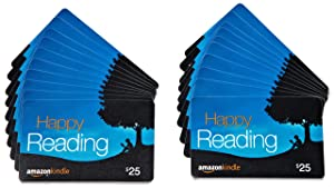 Amazon.com $25 Gift Cards, Pack of 20 (Amazon Kindle Card Design)