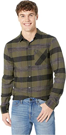 Long Sleeve Space Dye Woven Flannel - Non-Stretch Shirt