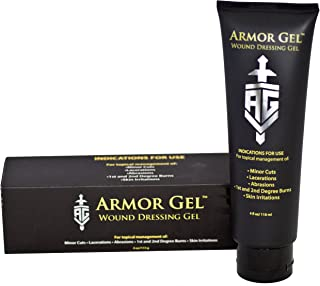 American Biotech Labs - Silver Biotics - Armor Gel Wound Dressing Gel - First Aid and Burn Relief Silver Ge...