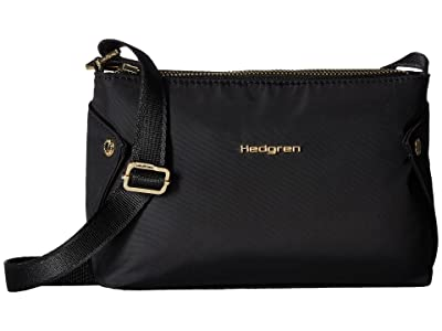 Hedgren Prisma Triangular Small Crossbody (Black) Cross Body Handbags
