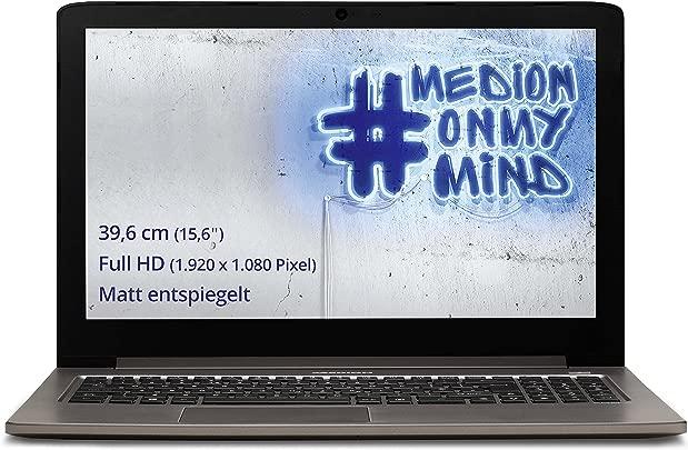 Medion Akoya S6417 MD 99576 S6417 39 6 cm  15 6 Zoll mattes Full HD Display  Laptop  Intel Core M-5Y31  8GB RAM  256GB SDD  Win 10 Home  titan-bronze