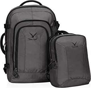 Hynes Eagle 2 in 1 Travel Backpack 48L Carry on Backpack with Removable Daypack, Grey