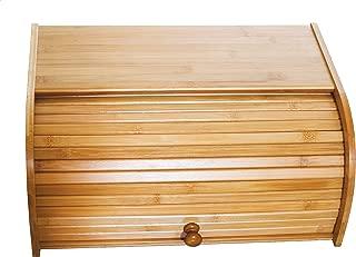 Lipper International 8846 Bamboo Wood Rolltop Bread Box, 15-3/4