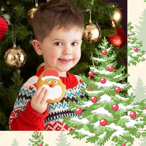 Weihnachtsbaum-Foto-Collage