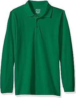 Kids Big Boys' Uniform Long Sleeve Pique Polo